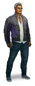 Johnny Gat Concept Art - Saints Row The Third - white hair