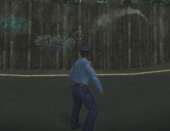 Flashbang being thrown in Saints Row 2
