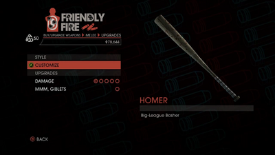 Weapon - Melee - Baseball Bat - Upgrades
