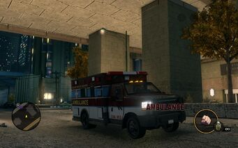Ambulance - front right with logo in Saints Row The Third