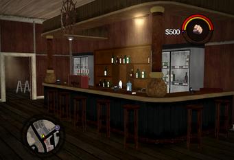 Sea Roses - interior bar area in Saints Row 2