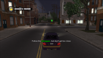 Aisha's Favor objective - Follow the kidnapper