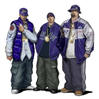Westside Rollerz Concept Art - 3 gang members