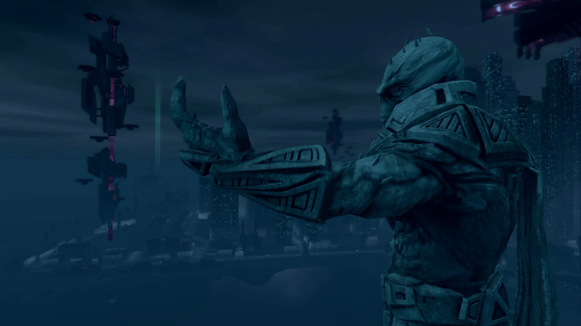 File:Saints Row IV Main Menu background - Zinyak statue and Tower.png