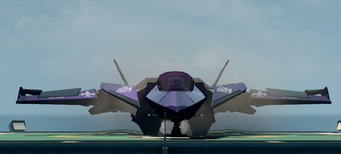 Saints Row The Third DLC vehicle - Saints VTOL - parked - front