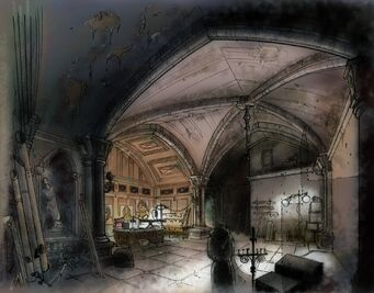 Saints Row Church - Johnny Gat's office Concept Art
