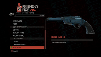 Weapon - Pistols - Heavy Pistol - The Captain - Blue Steel