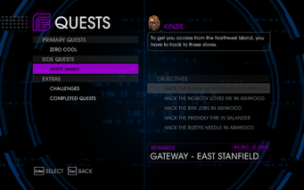 Quests Menu - White Rabbit