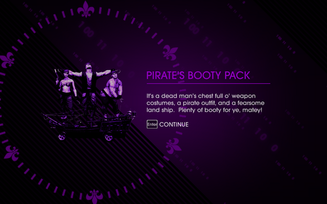 File:Saints Row IV Pirate's Booty Pack unlock screen.png