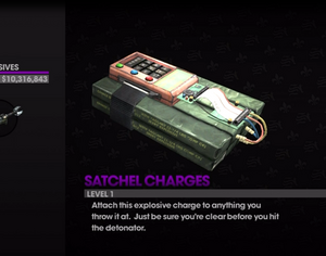 Satchel Charge Saints Row The Third Weapons Cache
