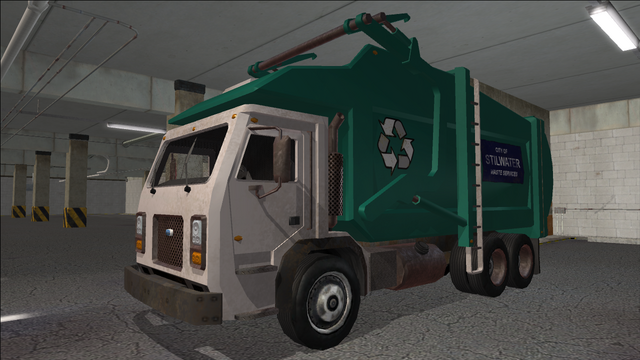 File:Saints Row variants - Stilwater Municipal - Recycle Truck - front left.png