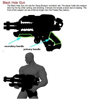 Black Hole Launcher - concept art silhouette of Freeze Ray Thumpgun