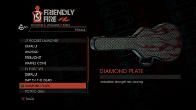Weapon - Explosives - RPG - El Fugitivo - Diamond Plate