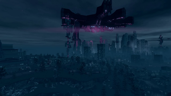 Saints Row IV Main Menu background - Steelport from west