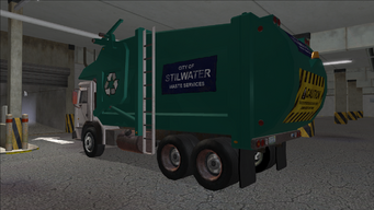 Saints Row variants - Stilwater Municipal - Recycle Truck - rear left