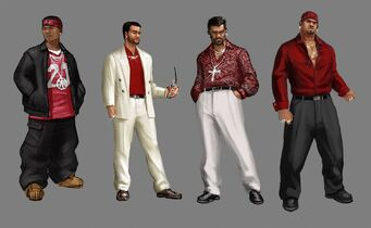 Los Carnales Concept Art - 4 versions