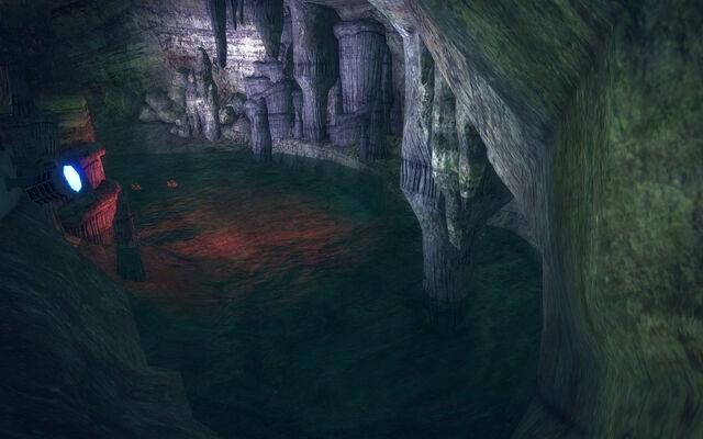 File:Stilwater Caverns - lit tunnel.jpg