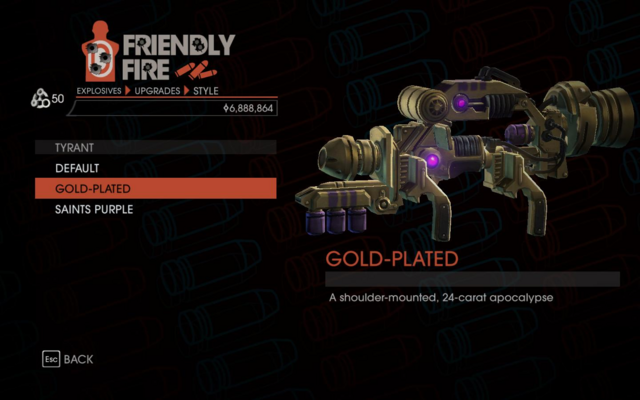 File:Weapon - Explosives - Alien RPG - Tyrant - Gold-Plated.png