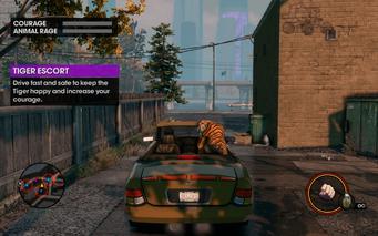 Tiger Escort start tutorial