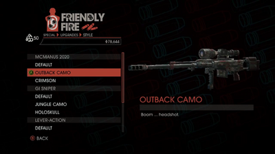 Weapon - Special - Sniper Rifle - McManus 2020 - Outback Camo