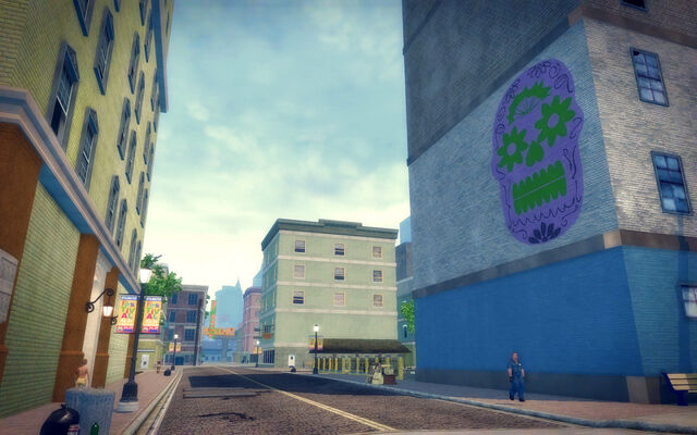 File:Ezpata in Saints Row 2 - skull mural.jpg