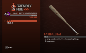 Baseball Bat in Saints Row The Third - Level 1 description