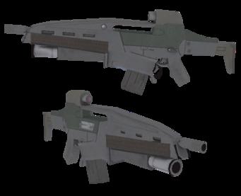 AR-50 w Grenade Launcher model