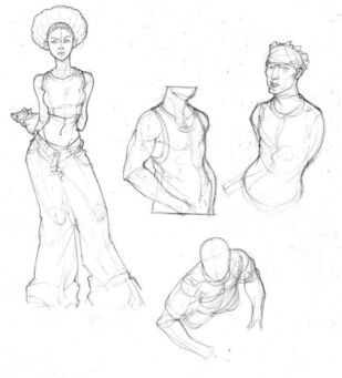 Saints Row - Character Concept Art - body sketches