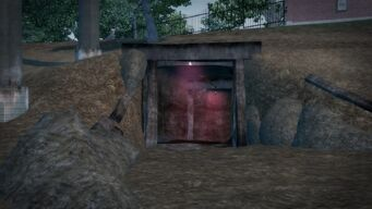 Cemetery Sex Cavern - open trailer park entrance from outside