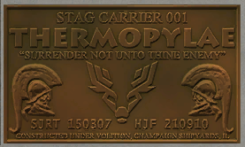 Thermopylae plate without aged texture