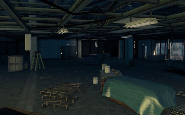 File:Abandoned office building - interior looking towards elevator.png