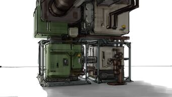 Saints Row Industrial Map - Machine Concept Art
