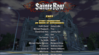 Saints Row credits screen 1