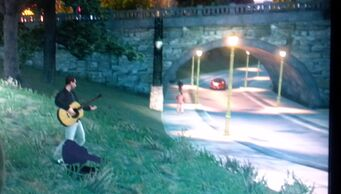 Busker in Sunset Park in Saints Row The Third