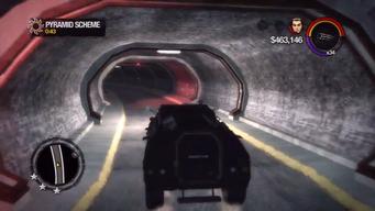 Pyramid Scheme - driving Bear through tunnel