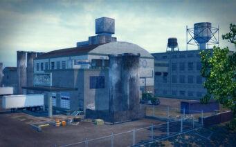 Drug Factory - wide exterior