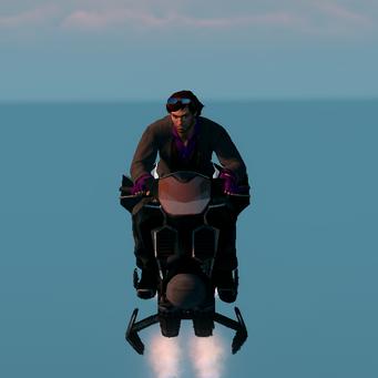 Saints Row The Third DLC vehicle - Ultor Interceptor - hover - front