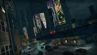Downtown at night - Saints Row The Third promo
