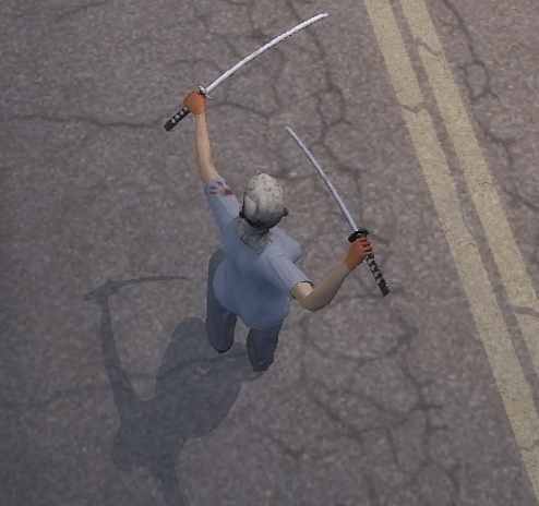 File:Dual Samurai Swords from above being held high.png