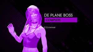 De Plane Boss - completion screen