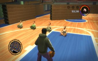 Marshall Winslow Recreation Center - basketball court meditation