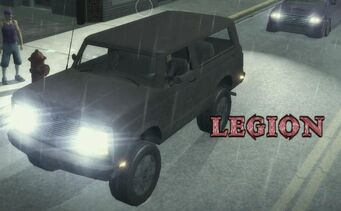 Legion - front left with logo and lights in Saints Row 2