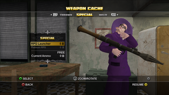 Saints Row Weapon Cache - Special - RPG Launcher