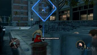Insurance Fraud start marker in Saints Row The Third