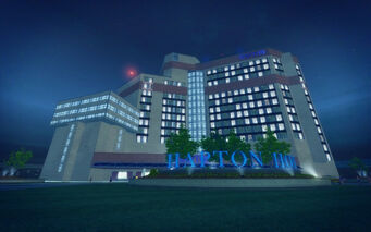 Huntersfield in Saints Row 2 - Hapton Hotel sign