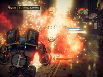 Mech Suit Mayhem explosion