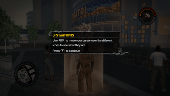 GPS Waypoint move cursor tutorial in Saints Row 2