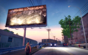Charlestown in Saints Row 2 - Churchill billboard