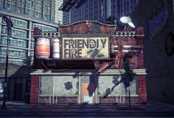 Friendly Fire exterior in Saints Row IV