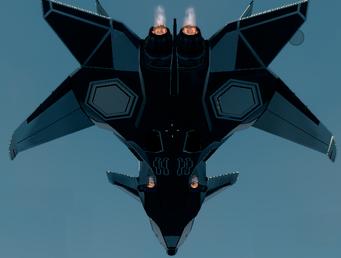 F-69 rear underside jet mode